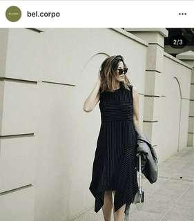 Bel.Corpo navy stripes handkerchief dress size 2