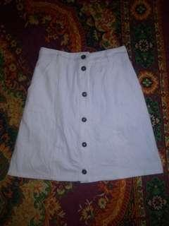 White botton down skirt