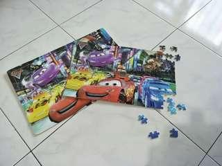 Cars puzzle 200 pieces wood with wood base