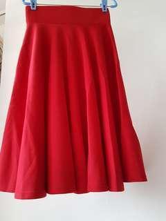 🌹CNY BN Hot Red medi Skirt
