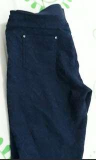 BARTER, sama kulot stripes size L * Leging brokat goos condition