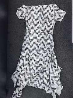 Hlaii one shoulder dress tenun
