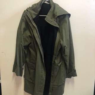 Khaki longline jacket
