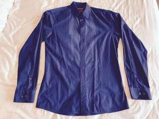 Hugo Boss Royal Blue Slim Fit Men's Shirt