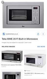 Teka built in microwave oven