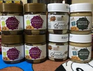 Cookie Butter/Cookie & Hezelnut/Choco Duo Spread!