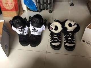 特價$500/2對 新淨 Adidas 特別版 猩猩鞋 熊貓鞋