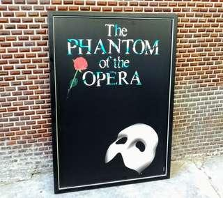 「歌劇魅影(The Phantom of the Opera)」舞台劇木框海報