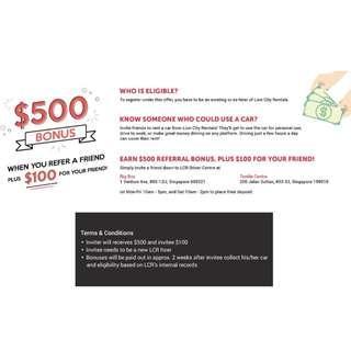 $500 Referral Bonus!
