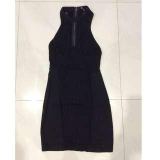 New Black Cut Out Bodycon Mini Dress in Size 10 M - LBD Little Black Dress