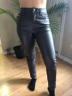 *PRICE DROP* BDG high-waisted brown faux leather skinny pants
