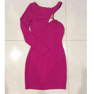 New Fuschia Pink Off Shoulder Party Cocktail Mini Dress in Size 6, 8, 10 or 12 - LAST SIZES!!!