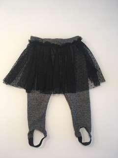 Zara Skirt with leggings