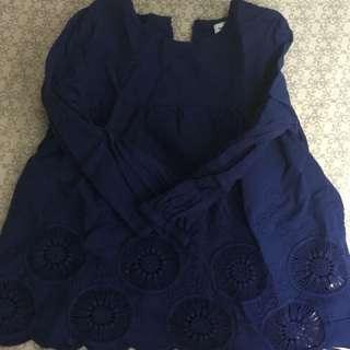 🚚 藍色小洋裝