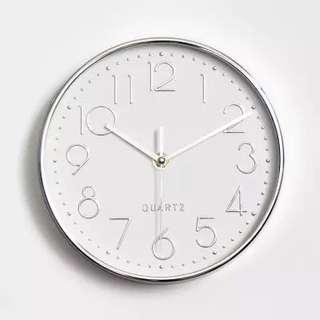 (INSTOCKS/PO) SILVER SILENT SWEEP WALL CLOCK