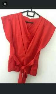 Baju kimono merah like new