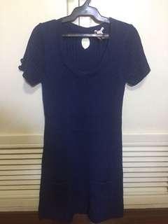 Dark Blue Knit Dress