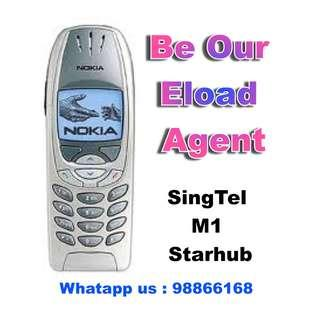 Be our eload agent ( Singtel / M1 / Starhub )