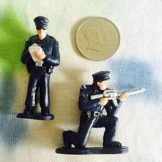 Mini Police Figures - 2 pcs
