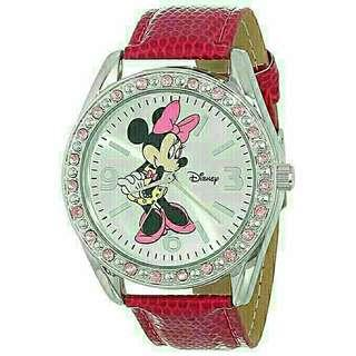 Women's Watch Disney Minnie Mouse Leather Pink MN1010