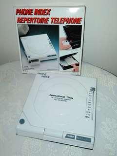 (New) Phone index, 1989