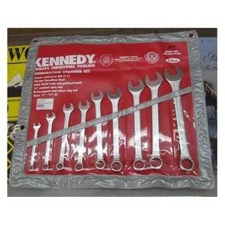 KENNEDY TOOLS 9 PIECE COMBINATION SPANNER SET