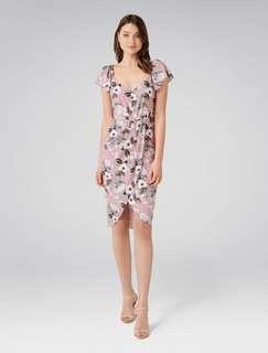Forever new elanor cap sleeve floral dress size 8