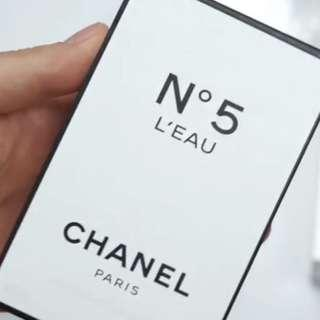 Chanel No. 5 L Eau Red Hue Limited Edition