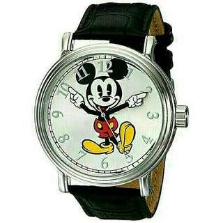 Men's Watch Disney Mickey Mouse Leather Black W001850