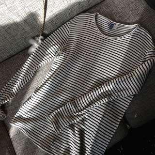 🚚 H&M 條紋 針織 毛衣 上衣 長袖