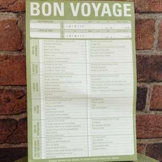 Bon Voyage - Checklist Note Pad
