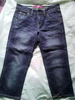Uniqlo blue jeans 7/8