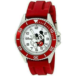 Men's Watch Disney Mickey Mouse Red Rubber W002392