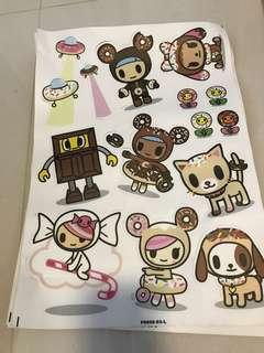 Tokidoki stickers donutella donutino