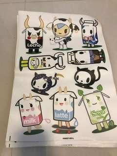 Tokidoki stickers mozz latte