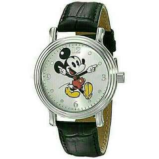 Women's Watch Disney Mickey Mouse Leather Black W001872