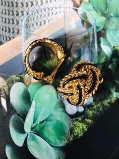 🚚 古董飾品 半圈夾式耳環