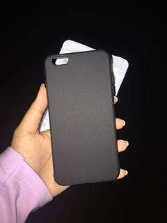Iphone 6+ plus rubber hard case black