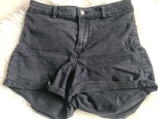 Highwaist Dark Grey Shorts