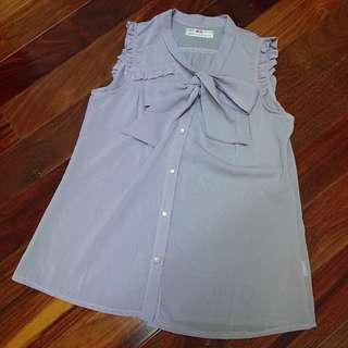淺紫蝴蝶結襯衫 #海龜