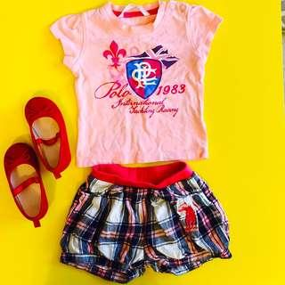 Polo Baby T-shirt and Shorts