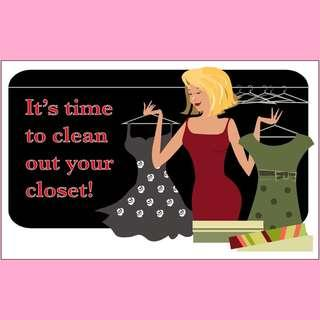 Cleaning out closets!
