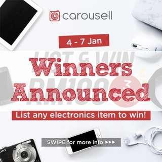 [GIVEAWAY CLOSED] List Electronics & WIN 3 x RM100 CASH