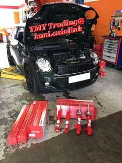 Mini Cooper S R56 in the house to upgrade Koni special absorber with original spring setup for optimise comfort level and handling improvement