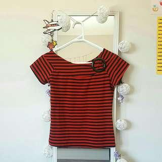 Vinage Red Stripped Top ☆