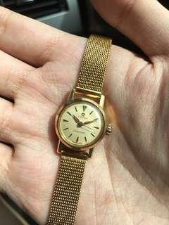 Omega Auto 18K S.Gold Automatic Watch Ladymatic