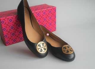 Tory Burch Benton Ballerina Flat Shoes Black