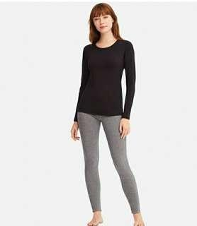 Uniqlo heattech crowneck and legging ultra warm