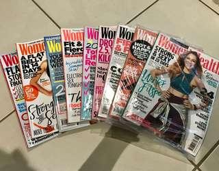 Women's Health Magazines x 9
