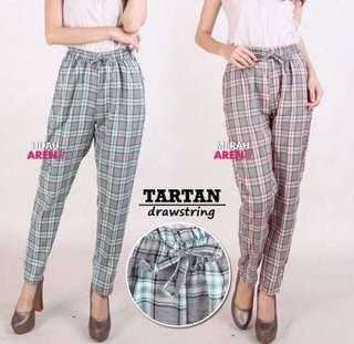 Tartan Drawstring Pants
